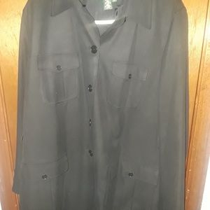Awesome black safari style jacket (worn once) in l